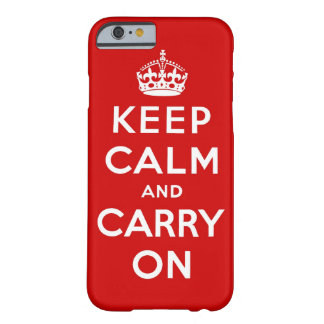 guarde la calma y continúe la original funda barely there iPhone 6