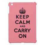 guarde la calma y continúe la original iPad mini coberturas