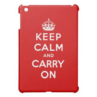 guarde la calma y continúe la original iPad mini cárcasas