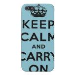 guarde la calma y continúe la original iPhone 5 carcasas