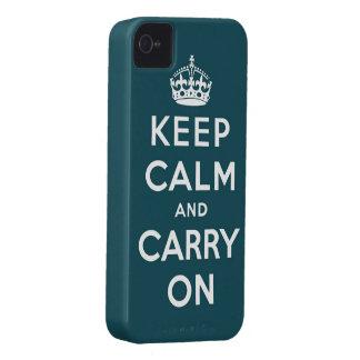 guarde la calma y continúe la original funda para iPhone 4