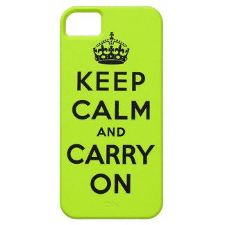guarde la calma y continúe la original funda para iPhone SE/5/5s