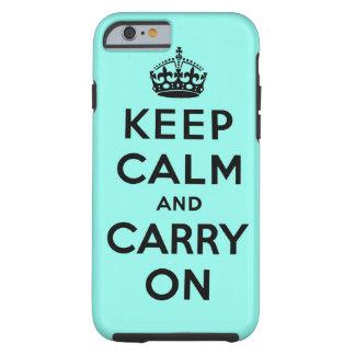 guarde la calma y continúe la original funda resistente iPhone 6
