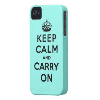 guarde la calma y continúe la original iPhone 4 fundas