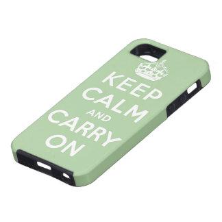 guarde la calma y continúe la original iPhone 5 fundas