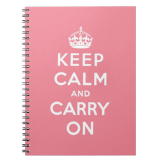 guarde la calma y continúe la original libro de apuntes