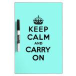guarde la calma y continúe la original tableros blancos