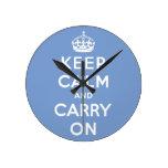 guarde la calma y continúe la original relojes de pared