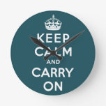 guarde la calma y continúe la original reloj