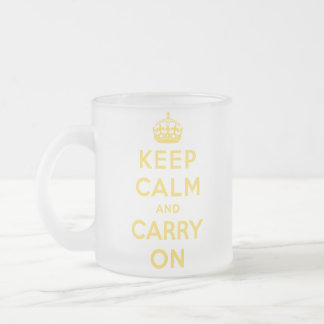 guarde la calma y continúe la original taza de cristal