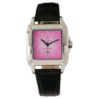 Guarde la calma y continúe los regalos femeninos reloj