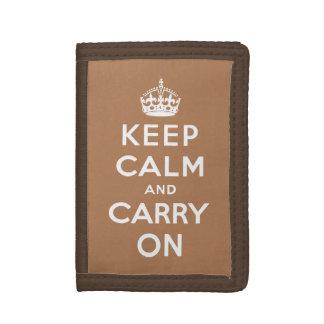 guarde la calma y continúe - marrón y blanco