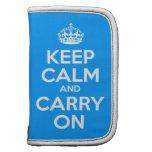 Guarde la calma y continúe organizador