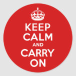 Guarde la calma y continúe pegatina