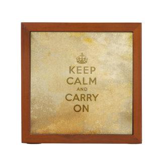 Guarde la calma y continúe portalápices