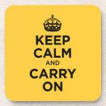 Guarde la calma y continúe posavaso