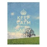 guarde la calma y continúe postales