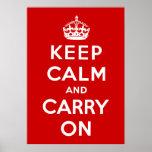 Guarde la calma y continúe poster