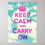Guarde la calma y continúe: Poster de las nubes
