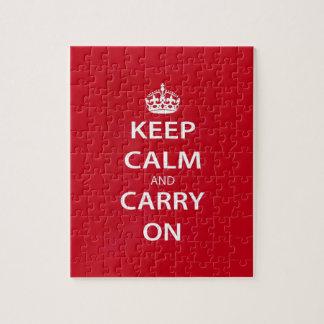 Guarde la calma y continúe puzzles