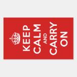 Guarde la calma y continúe rectangular altavoz