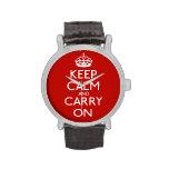 Guarde la calma y continúe relojes de pulsera