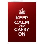 Guarde la calma y continúe tarjetón