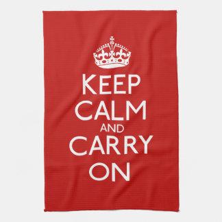 Guarde la calma y continúe toallas