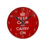 Guarde la calma y continúe, vintage relojes