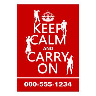 Guarde la calma y continúe (zombis) (cualquier col tarjeta de visita