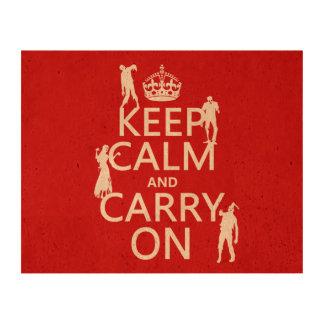 Guarde la calma y continúe (zombis) (cualquier impresiones en corcho