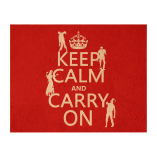 Guarde la calma y continúe (zombis) (cualquier papel de corcho