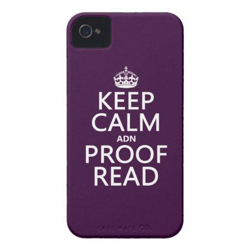 """Guarde la calma """"y"""" corregido (el ADN) (en cualqui Case-Mate iPhone 4 Cárcasa"""