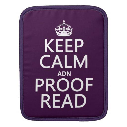 """Guarde la calma """"y"""" corregido (el ADN) (en cualqui Fundas Para iPads"""