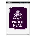 """Guarde la calma """"y"""" corregido (el ADN) (en cualqui Pegatina Skin Para iPad 3"""