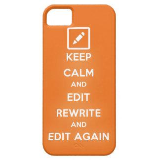 Guarde la calma y corrija la reescritura y iPhone 5 carcasas