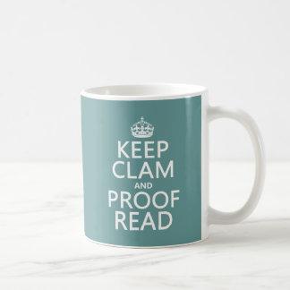 Guarde la calma y corríjala (almeja) (cualquier co taza
