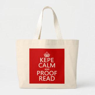 Guarde la calma y corríjala (el kepe) (en cualquie bolsa tela grande