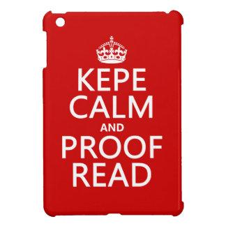 Guarde la calma y corríjala el kepe en cualquie iPad mini funda