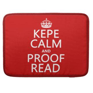 Guarde la calma y corríjala (el kepe) (en cualquie fundas para macbooks