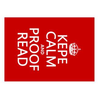 Guarde la calma y corríjala (el kepe) (en cualquie plantilla de tarjeta de visita