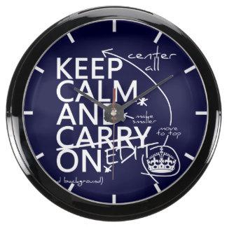 Guarde la calma y corríjala en (en cualquier relojes pecera