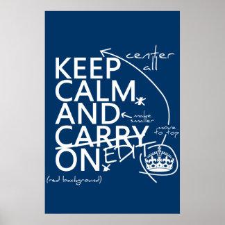 Guarde la calma y corríjala en (en cualquier póster