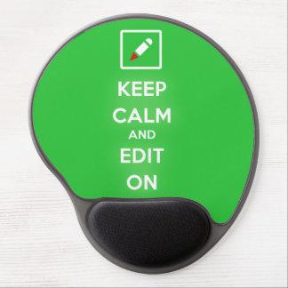 Guarde la calma y corríjala en Mousepad Alfombrilla De Raton Con Gel