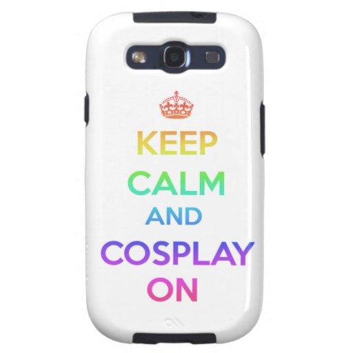Guarde la calma y Cosplay encendido Samsung Galaxy SIII Funda