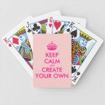 Guarde la calma y cree sus los propios - rosa baraja de cartas bicycle