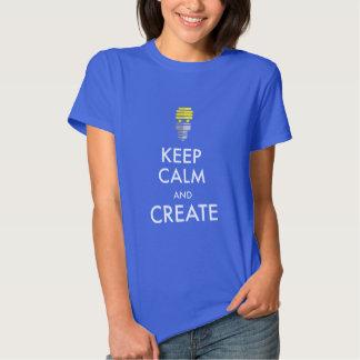 Guarde la calma y créela camisas
