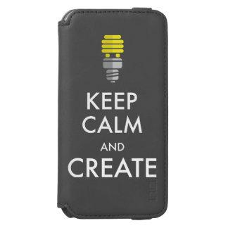 Guarde la calma y créela funda billetera para iPhone 6 watson