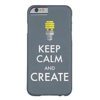 Guarde la calma y créela funda para iPhone 6 barely there