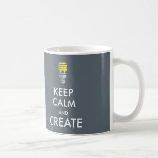 Guarde la calma y créela taza